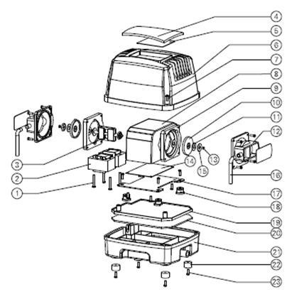 Схема компрессора Hailea HAP-60